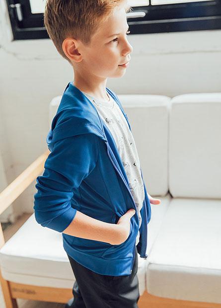 男童抗UV小印花連帽外套