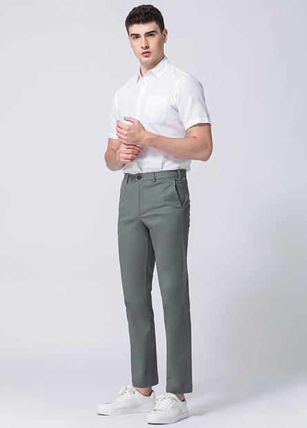 Slim Fit修身斜紋長褲