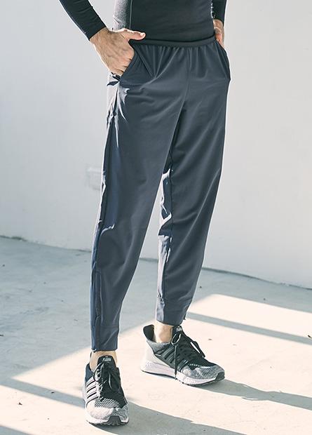 Regular拉鍊束口褲