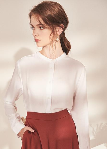 V領縲縈長袖襯衫