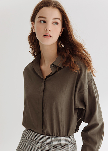 純棉長袖襯衫