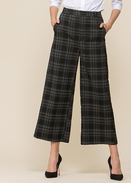 平織寬長褲
