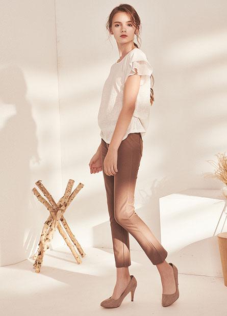斜紋針織長褲
