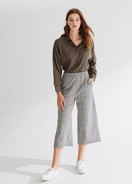 堤花針織長褲