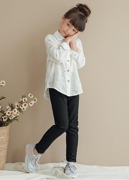 女童緊身彈力牛仔褲