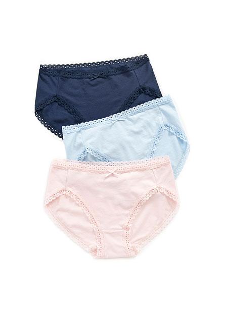 高腰蕾絲內褲(三入)