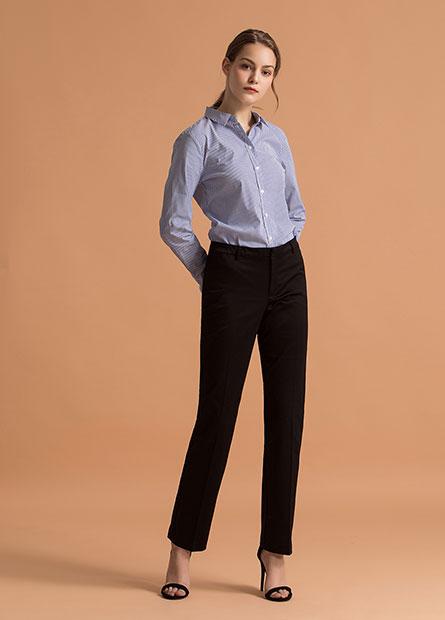 Regular微光澤西裝長褲