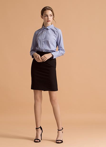 及膝商務窄裙