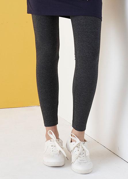 素色針織長褲