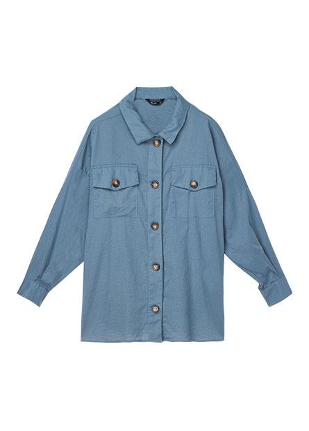 襯衫領雙口袋襯衫