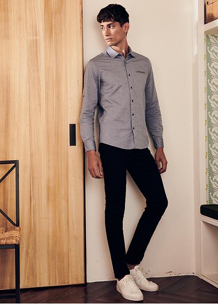 Skinny Fit彈性五口袋長褲