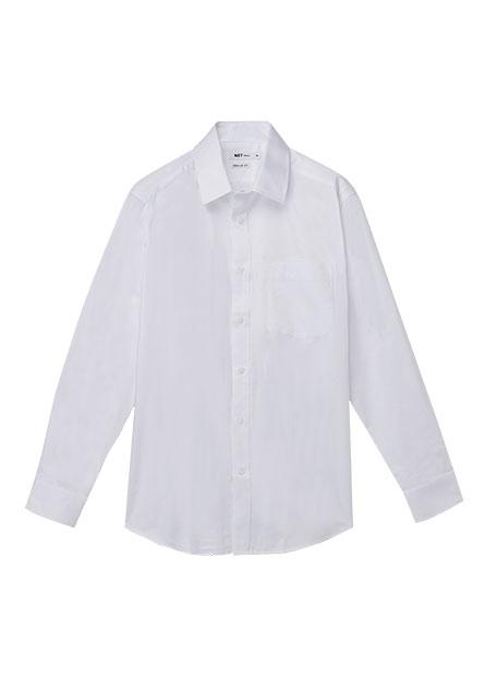 Regular Fit標準領防皺襯衫
