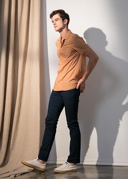 Slim Fit修身彈性長褲