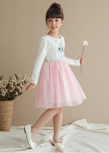 女童中腰紗裙洋裝
