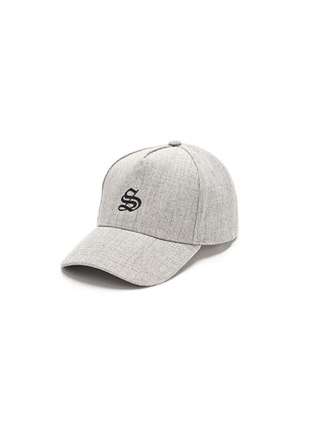 繡字五片彎眉棒球帽