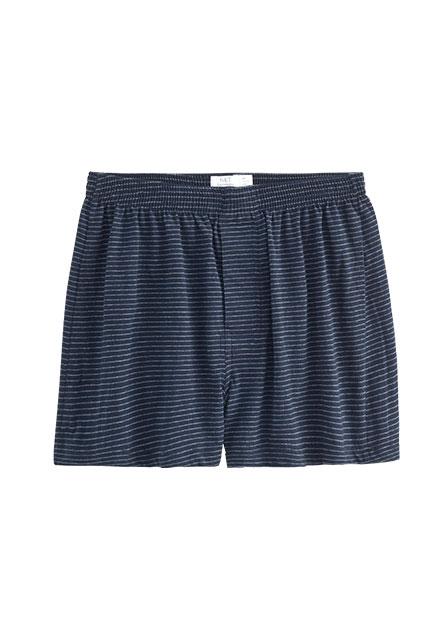 素色條紋印花四角內褲