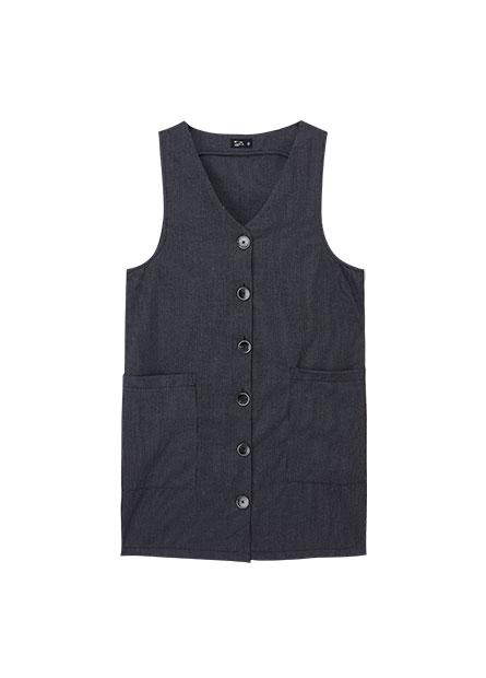 V領釦大口袋洋裝