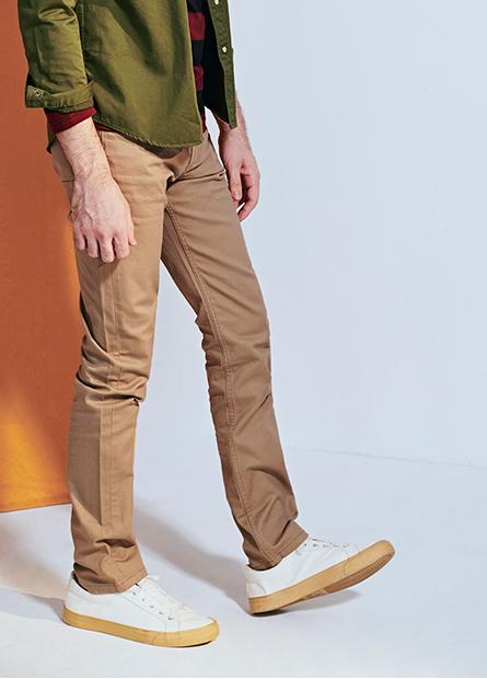 Slim Fit修身牛仔色褲