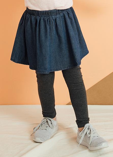 女童牛仔襯裙內搭褲