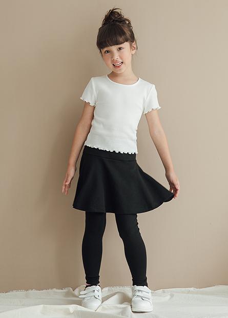 女童素色襯裙內搭褲