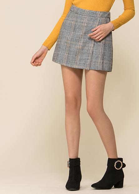 圍裹式短裙