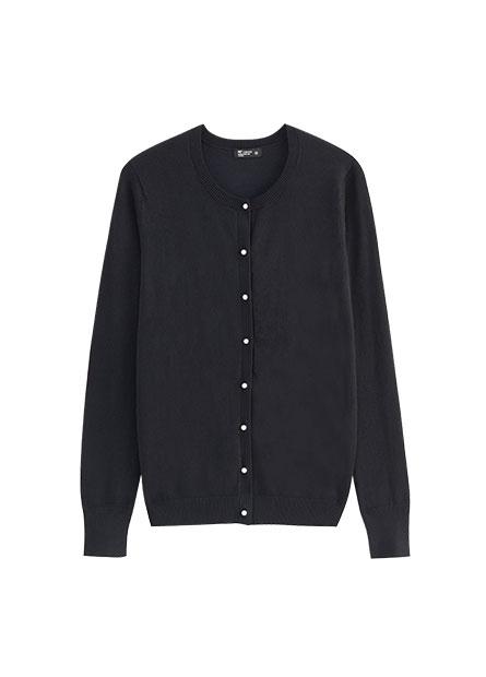 珍珠釦針織開襟衫