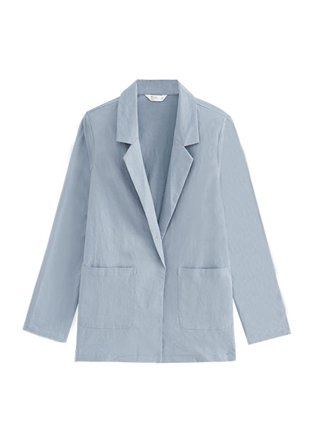 西裝領大口袋外套