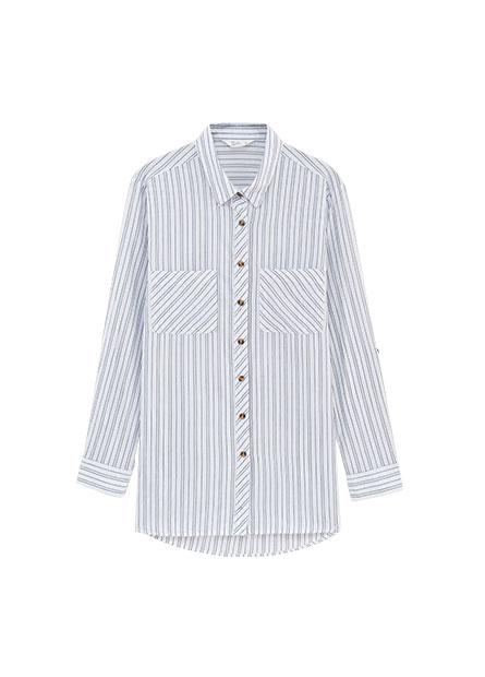 雙口袋長袖襯衫
