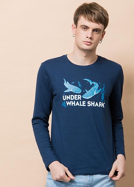 鯨鯊長袖印花T