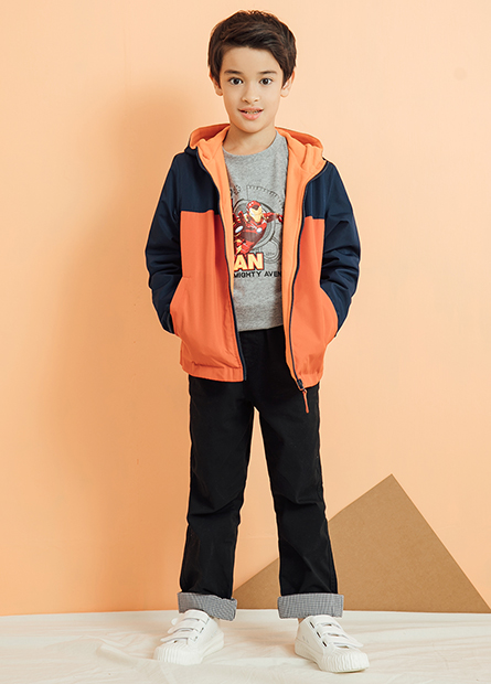男童連帽平口雨衣夾克