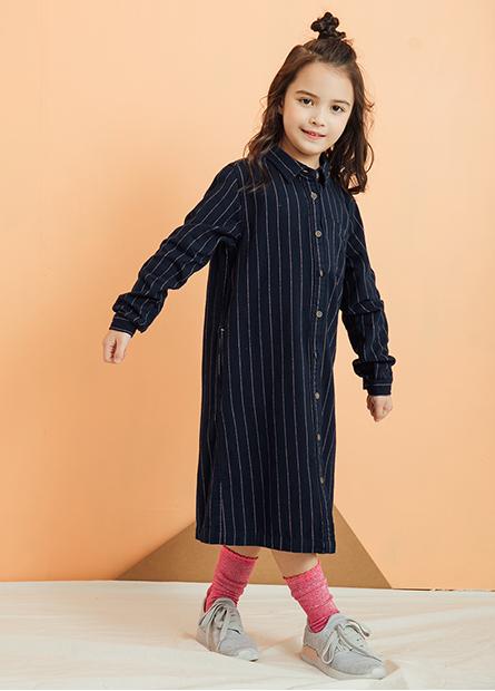 女童長版襯衫