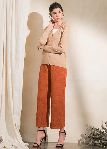 羅紋寬長褲