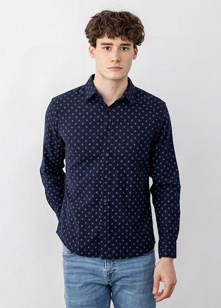 法蘭絨長袖襯衫