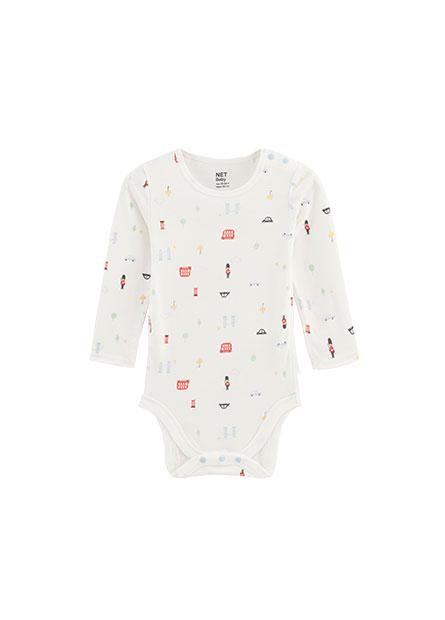 嬰兒側開釦包臀衣