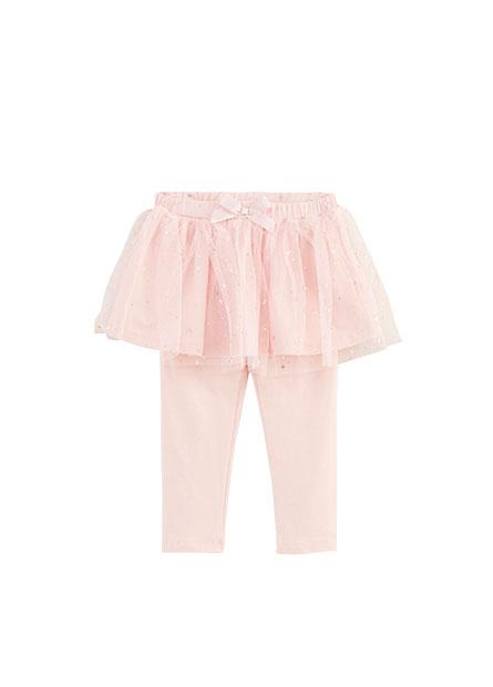 女嬰假兩件式裙褲