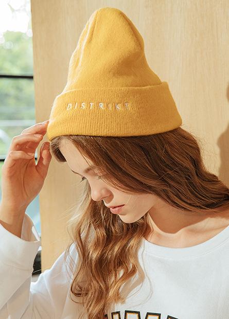 繡字女式毛線帽