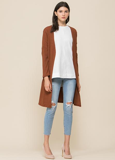 羅紋披掛外套