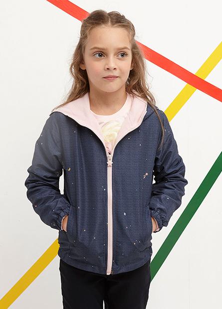 女童連帽舖棉外套
