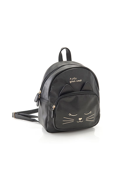 貓咪繡花童後背包