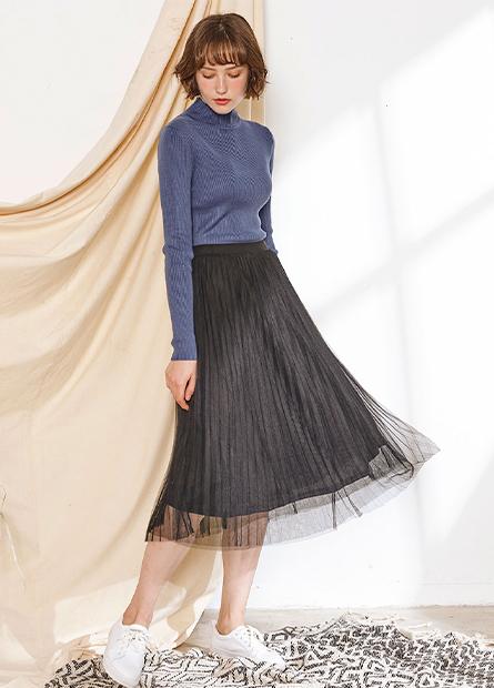 雙層百褶紗裙