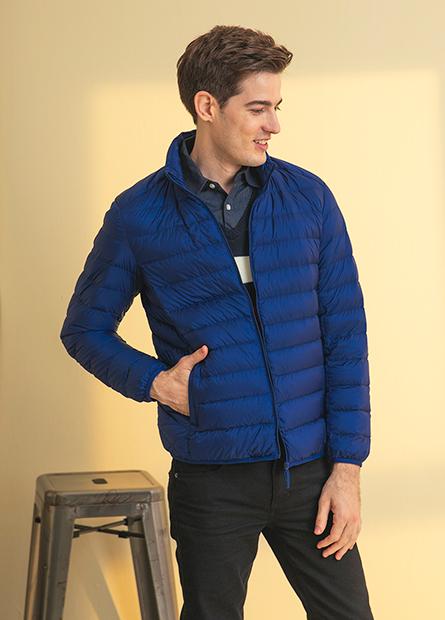 超輕羽絨立領外套