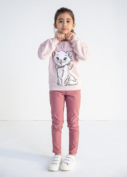 女童瑪麗貓內刷毛上衣