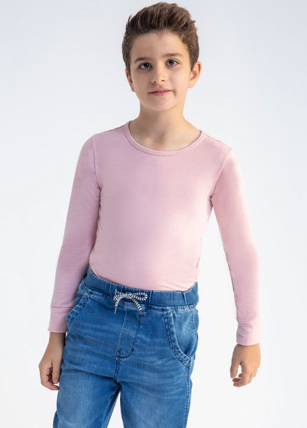 童圓領發熱衣