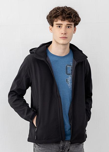 立領接帽內刷毛外套