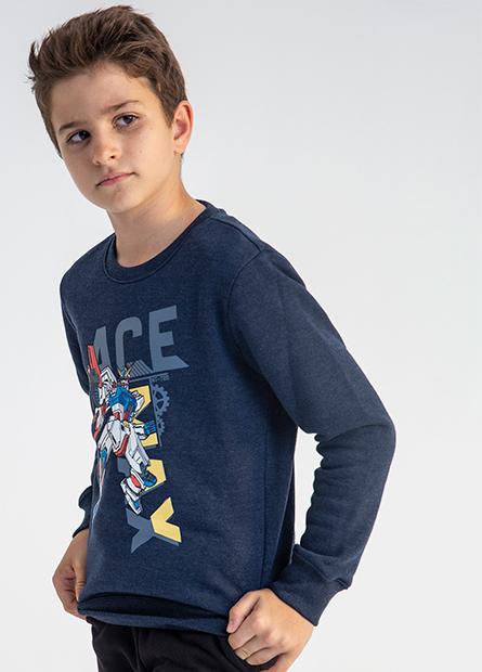 男童鋼彈內刷毛上衣