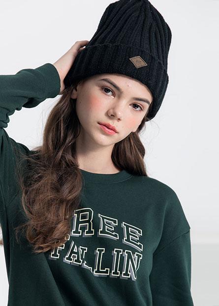 NYC小織標毛帽