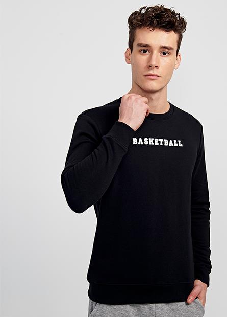 內刷毛籃球英文大學T
