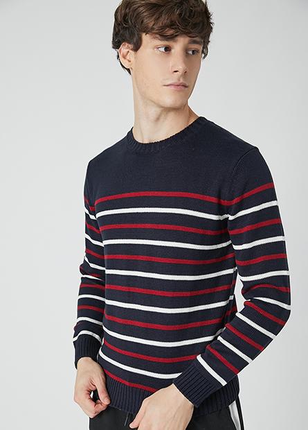 抗起球圓領毛衣
