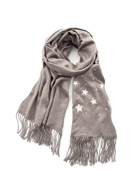 女星星刺繡圍巾
