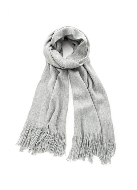 女厚針織素色圍巾